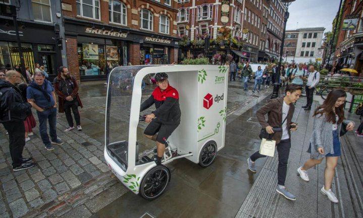 Bezorgfiets zonder fietser