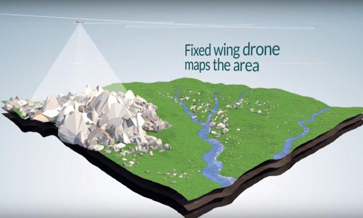 Drones zaaien 100.000 bomen per dag