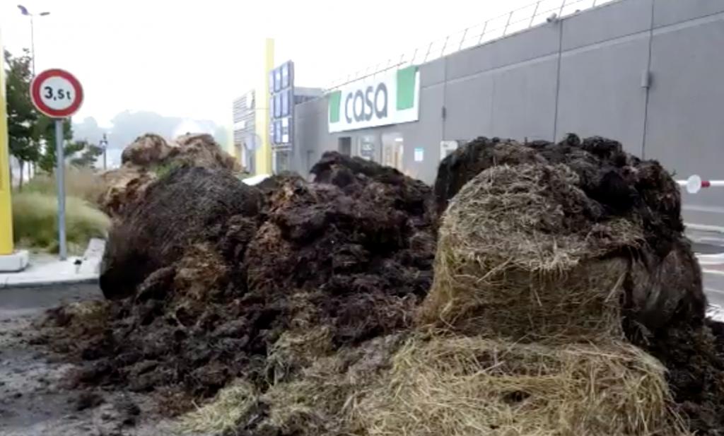 Protesten tegen Franse supers: 'als er niets gebeurt, verdwijnt de veehouderij'