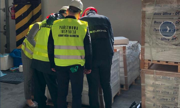 Europol neemt 550 ton illegale bestrijdingsmiddelen in beslag