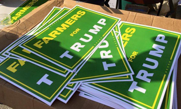 Winst Trump vraagteken voor landbouw VS