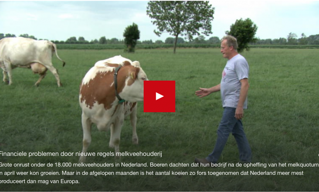 Nederlandse melkboeren willen steun met stront