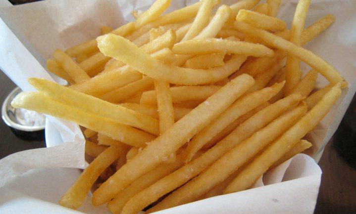 Verse friet uit een Australische automaat