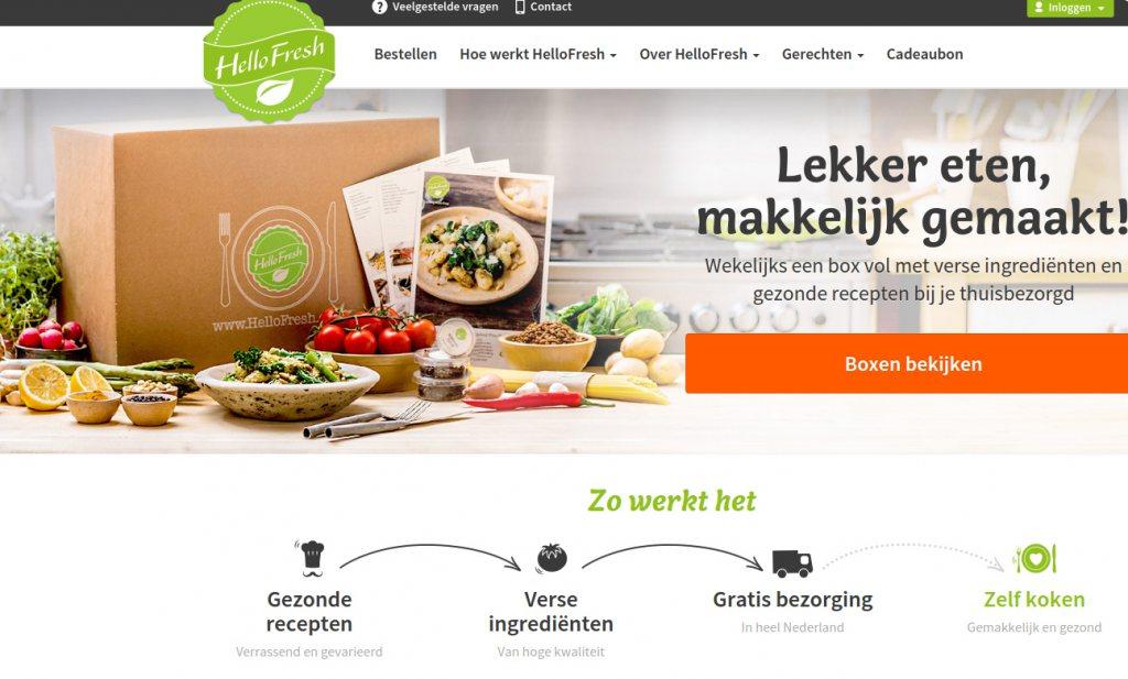 HelloFresh laat klant zelf gerechten kiezen