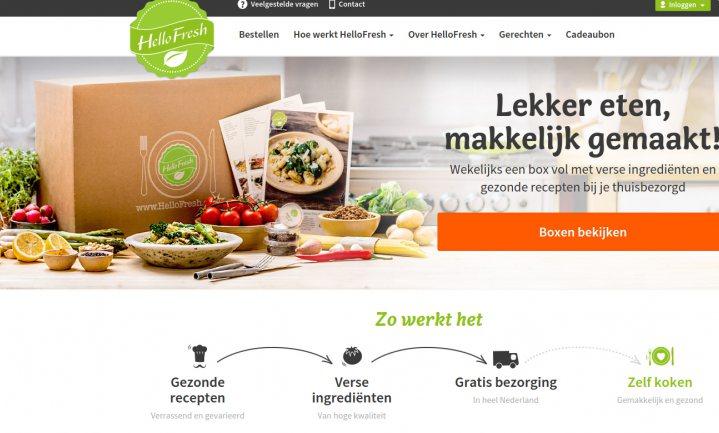 Maaltijdboxen HelloFresh innovatiever dan Bol.com