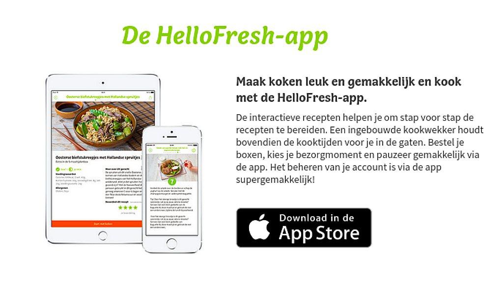 HelloFresh komt met app