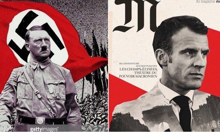 Weinig gele hesjes, Le Monde biedt excuses aan voor vermeende nazi-symboliek rond beeld Macron