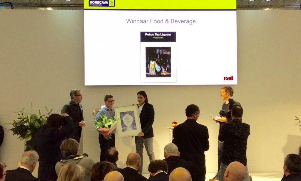 Innovation awards voor thee-likeur en bieterbal op Horecava