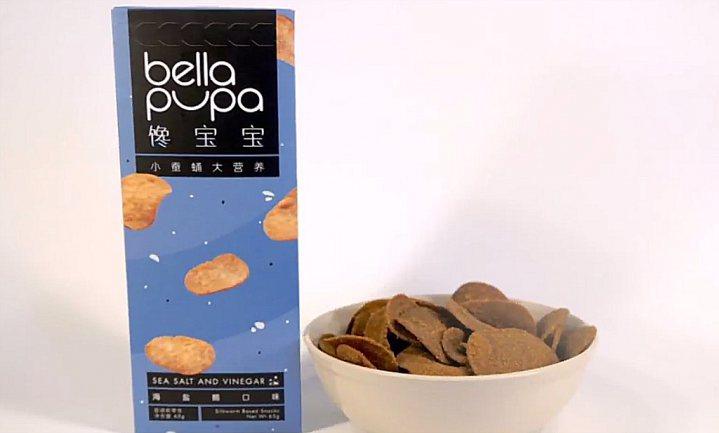 Chinese chips van zijderupspoeder