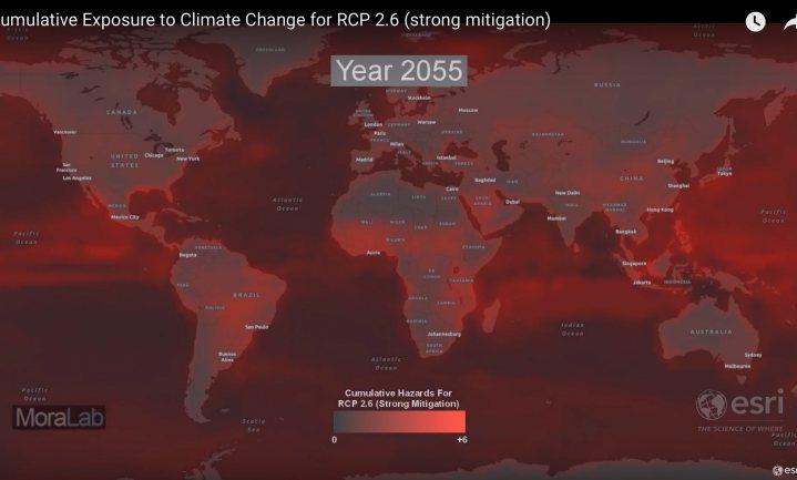 Interactief model gereed om het aantal klimaateffecten tegelijk per plek op aarde te voorspellen