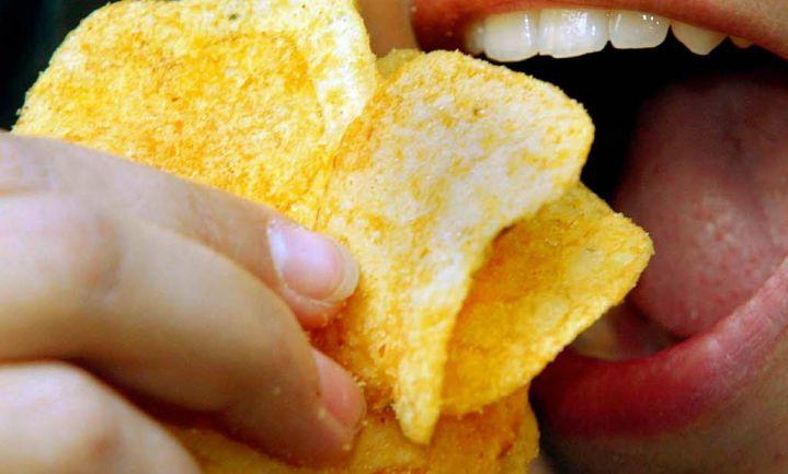 Chips in biologisch afbreekbare zak