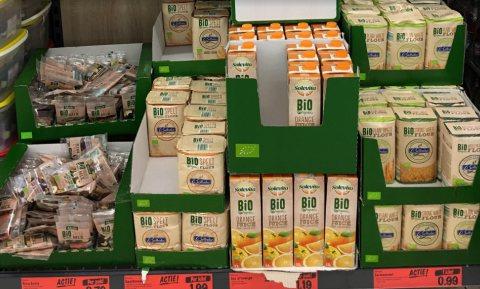Aandeel biologisch in supermarkten bleef stabiel, aandeel speciaalzaken groeide