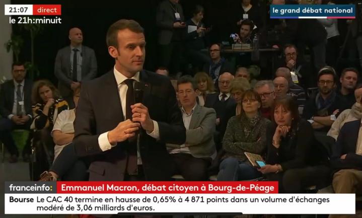 Opnieuw bewondering voor Macron na gesprek met burgers