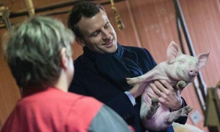 Macron ketent boer aan nationale verwerker en winkelier