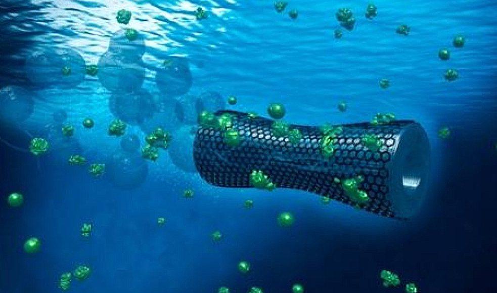 'Zelfzwemmende microbots' reinigen vervuild afvalwater