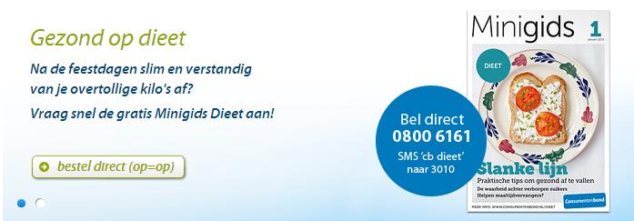 Minigids Consumentenbond over: Dieet