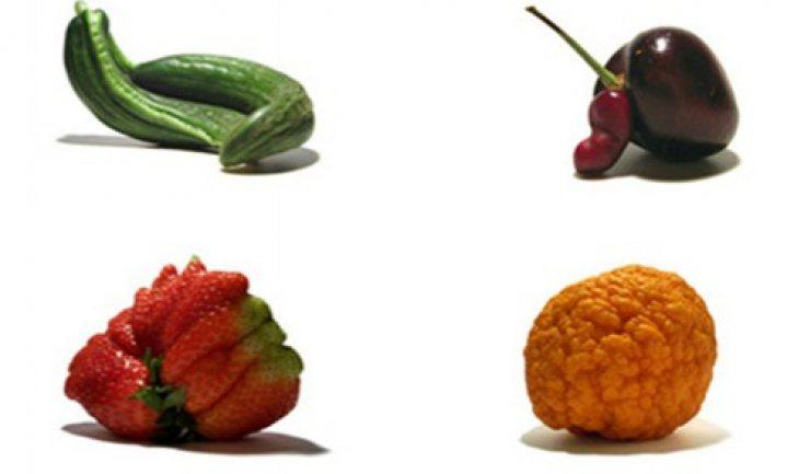 Peptalk voor groenten en fruit met een vlekje