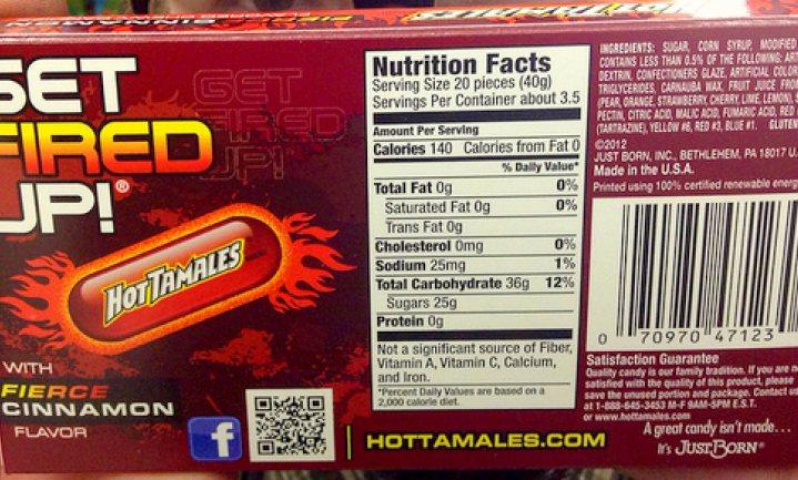 Suiker centraal op Amerikaanse etiketten