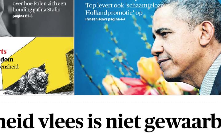 Voedselveiligheid: Nederland staat voor lul