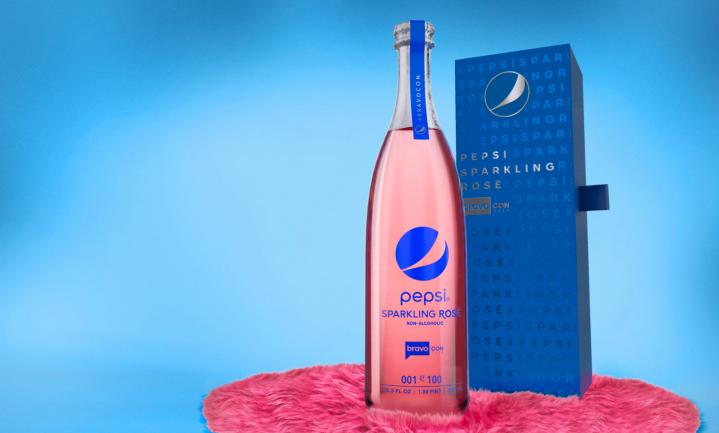 Rosé prik van Pepsi