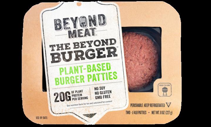 Plantaardige Beyond Burger in het vleesschap in België