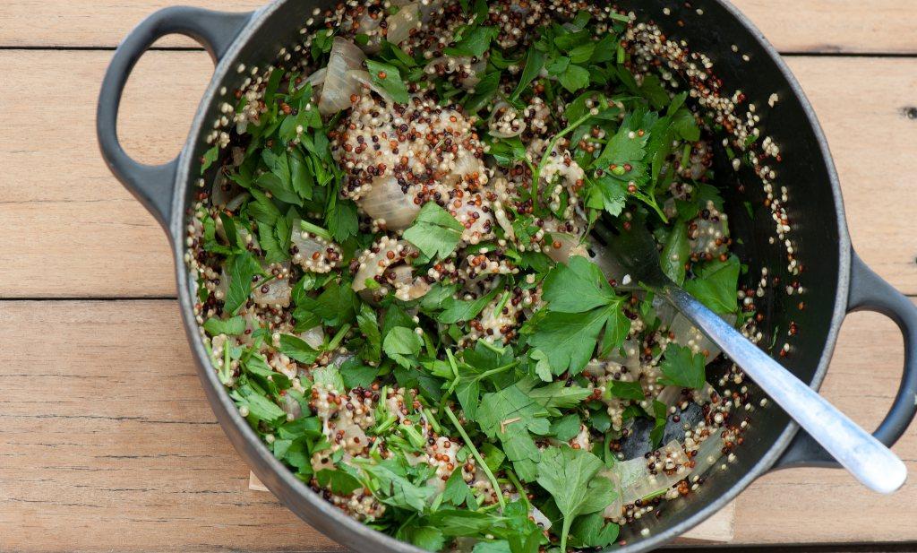Ik eet quinoa, dus ik ben