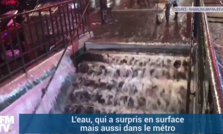 Regenrecord Parijs gebroken: 49 liter per m2 in 1 uur