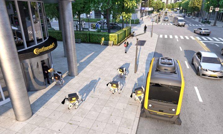 Robothond bezorgt pakjes aan huis
