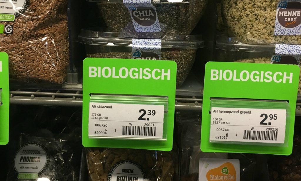 Grote prijsverschillen in biologisch assortiment supers
