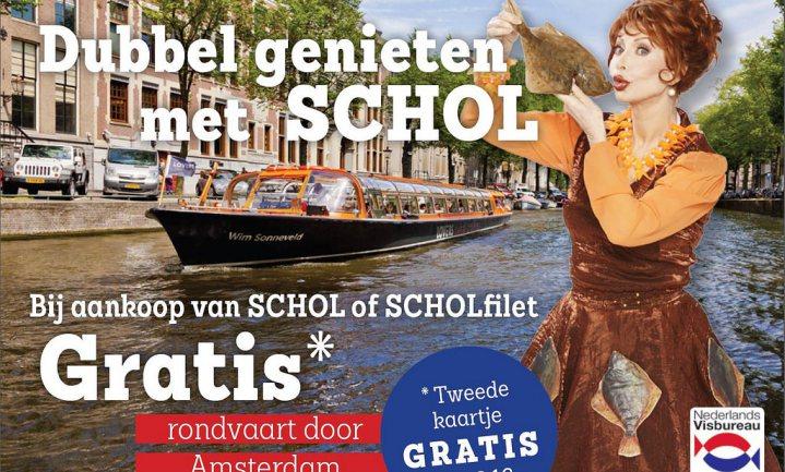 Nederlands Visbureau geeft schol 'lift' met… Marijke Helwegen