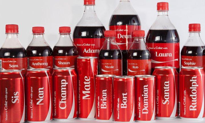 Naamcampagne Coca-Cola krijgt verkopen VS weer omhoog