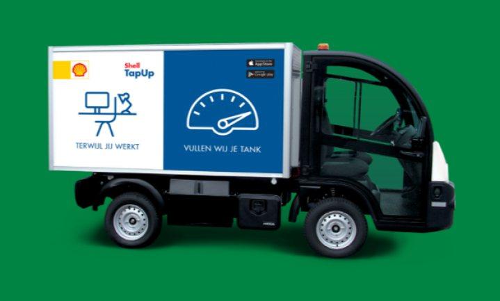 Elektrische tankwagen bezorgt benzine en diesel thuis