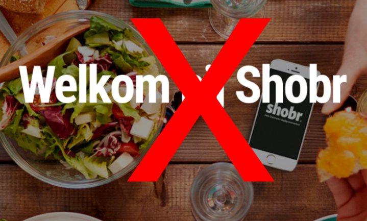 Online foodmarktplaats Shobr stopt nog voor de start