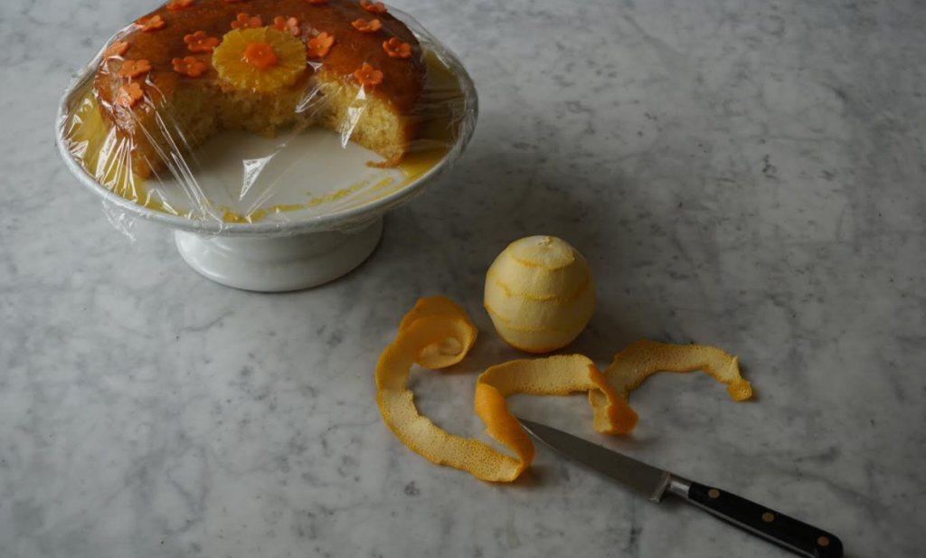 Italiaanse sinaasappeltaart, met of zonder suikerbloempjes