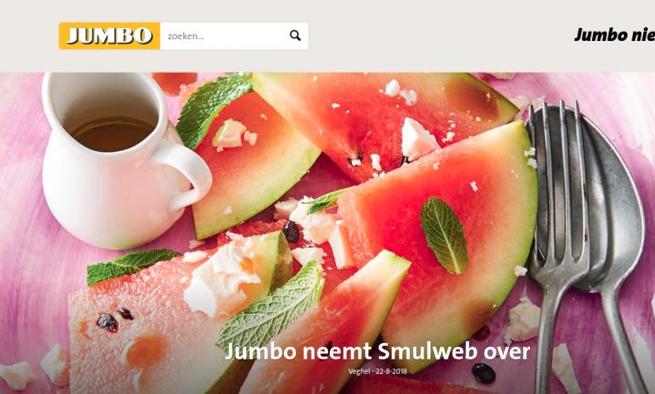 Jumbo neemt Smulweb over en zet weer een stapje op weg naar persoonlijk voedingsadvies