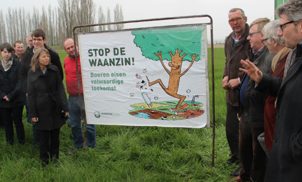 Vlaamse boeren tegen 'waanzin' vergroening