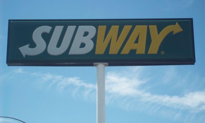 Subway stopt met plofkip
