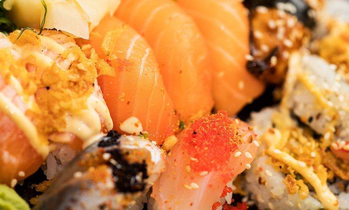 Gratis sushi voor wie zalm heet