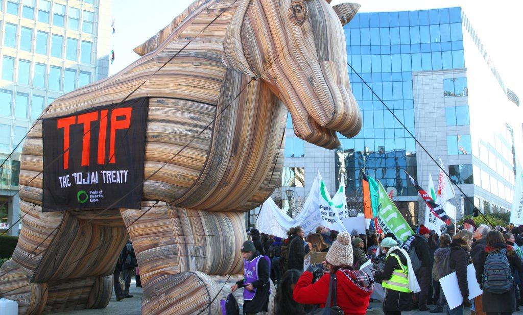 Unieke gelegenheidscoalitie tegen TTIP