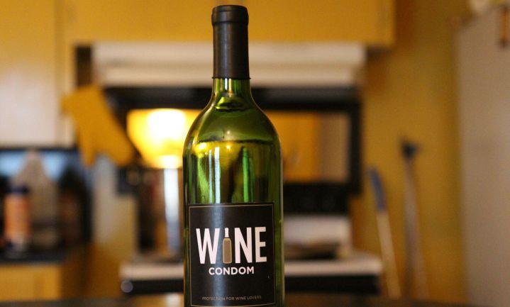 Condoom voor wijnflessen