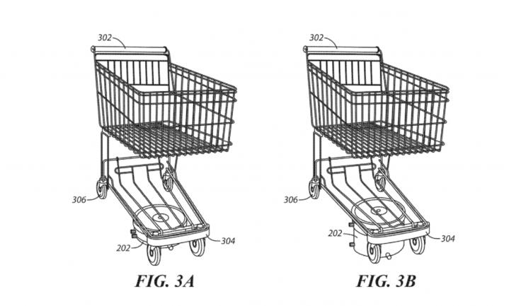 Walmart patenteert zelfrijdend winkelwagentje